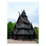 Iglesia medieval noruega del bastón postales
