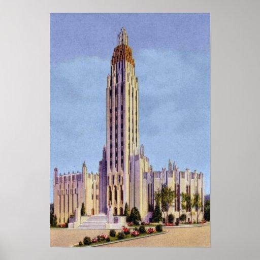 Iglesia metodista de la avenida de Tulsa Oklahoma  Póster
