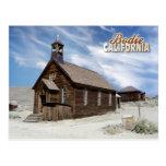 Iglesia metodista, pueblo fantasma de Bodie, Calif Tarjetas Postales