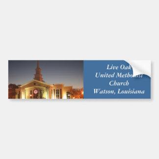 Iglesia metodista unida de Live Oak Pegatina De Parachoque