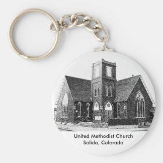 Iglesia metodista unida llaveros personalizados