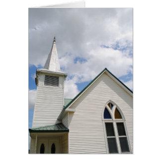 Iglesia metodista vieja en la ruta 66 tarjeta pequeña
