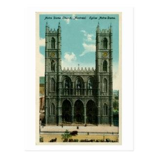 Iglesia Montreal de Notre Dame del vintage Postal