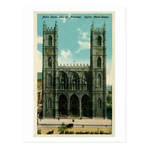 Iglesia Montreal de Notre Dame del vintage Tarjetas Postales