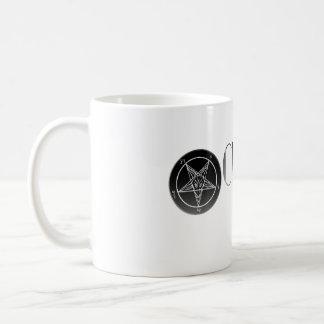 Iglesia Noir de la taza blanca clásica del