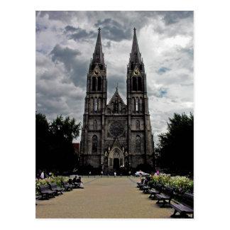 Iglesia, nueva ciudad, Praga Postales