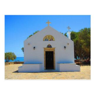 Iglesia ortodoxa en Gouves, postal de Creta