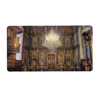 Iglesia ortodoxa griega de la trinidad santa etiquetas de envío