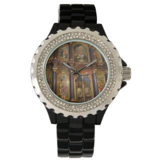 Iglesia ortodoxa griega de la trinidad santa relojes de pulsera