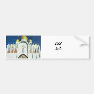 Iglesia ortodoxa rusa pegatina de parachoque