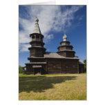 Iglesia ortodoxa rusa de madera de Ttraditional Tarjeta De Felicitación