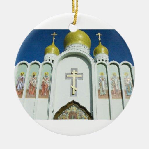 Iglesia ortodoxa rusa ornamento para arbol de navidad