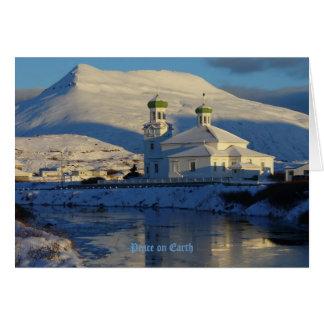 Iglesia ortodoxa rusa en la isla de Unalaska Tarjeta De Felicitación