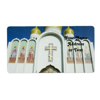 Iglesia ortodoxa rusa etiquetas de envío