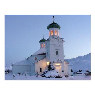 Iglesia ortodoxa rusa, navidad tarjeta postal