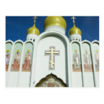 Iglesia ortodoxa rusa tarjeta postal