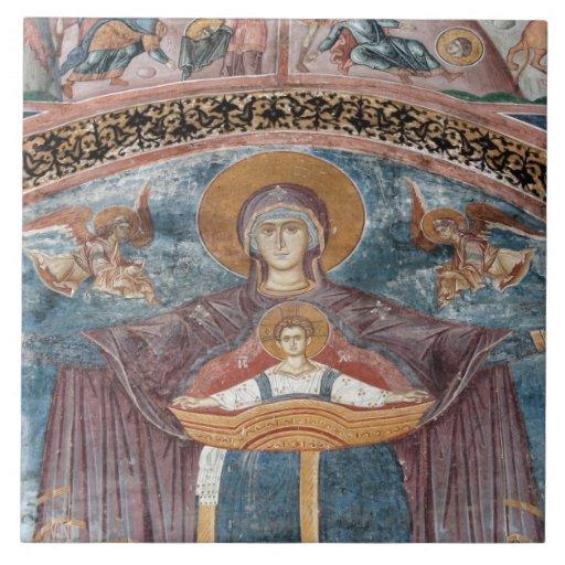 Iglesia ortodoxa servia, y un sitio de la UNESCO,  Tejas