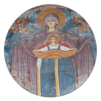 Iglesia ortodoxa servia, y un sitio de la UNESCO, Plato De Cena