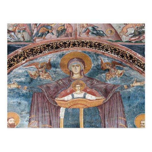 Iglesia ortodoxa servia, y un sitio de la UNESCO, Postal