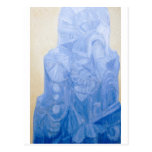 Iglesia pagana azul (arquitectura surrealista) tarjeta postal