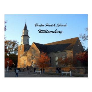 Iglesia parroquial de Bruton, Williamsburg Postales