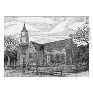 Iglesia parroquial de Bruton, Williamsburg, Tarjeta De Felicitación