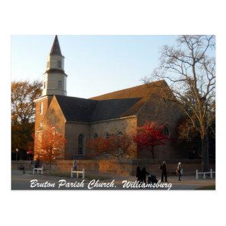 Iglesia parroquial de Bruton, Williamsburg Tarjetas Postales