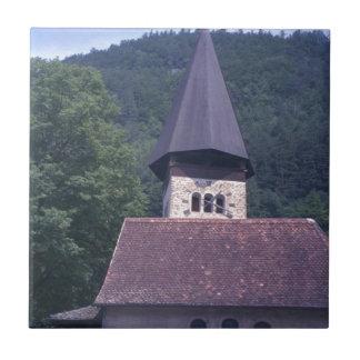 Iglesia parroquial de Unterseen, Interlaken Azulejo Cuadrado Pequeño