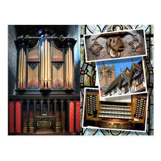 Iglesia parroquial, Ludlow, postal del montaje