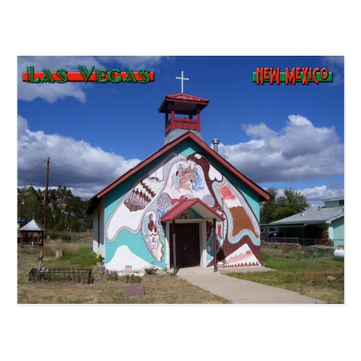 Iglesia pintada, Montezuma New México Postal