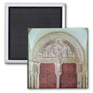Iglesia porta central Sainte-Madelaine de Narthex Imán Cuadrado