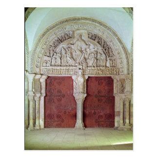 Iglesia porta central Sainte-Madelaine de Narthex Tarjeta Postal