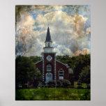 Iglesia Poster-Majestuosa del ladrillo