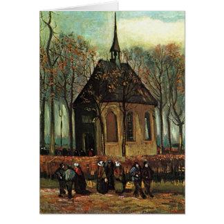Iglesia reformada en Nuenen, bella arte de Van Tarjeta De Felicitación