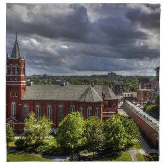Iglesia roja servilleta