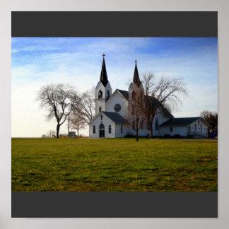 Iglesia rural de Nebraska Impresiones
