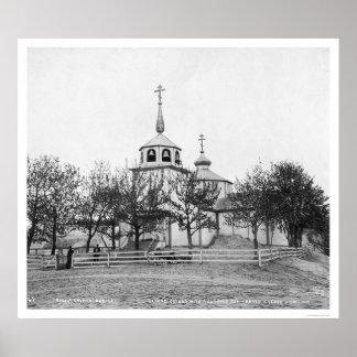 Iglesia rusa cubierta por la ceniza 1912 de Volcan Impresiones