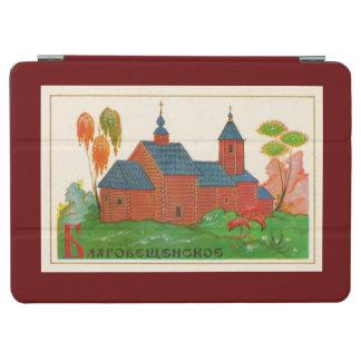Iglesia rusa de madera de Blagoveshchenskoye Cover De iPad Air