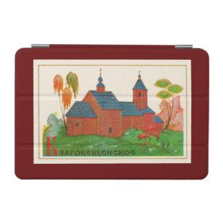 Iglesia rusa de madera de Blagoveshchenskoye Cover De iPad Mini