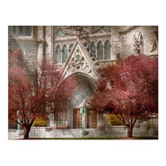 Iglesia - salmo uno a hablar con tarjeta postal
