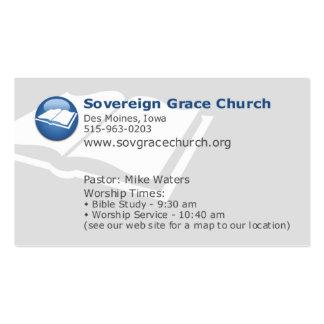 Iglesia soberana de la tolerancia - malas noticias plantilla de tarjeta de negocio