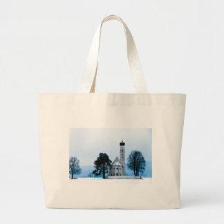 Iglesia sola bolsa tela grande