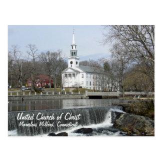 Iglesia Unida de Cristo a través de la charca Postal