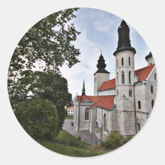 Iglesia vieja en Visby Suecia Pegatinas