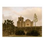 Iglesia-Vintage/sepia de Tejas Postales