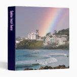 Iglesia y arco iris