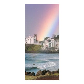 Iglesia y arco iris lonas personalizadas