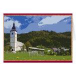Iglesia y ciudad de Jereka, Eslovenia Felicitación