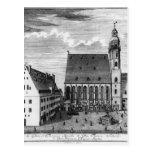 Iglesia y escuela de St Thomas en Leipzig, 1723 Postal