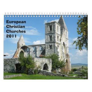 Iglesias cristianas europeas 2011 calendarios de pared